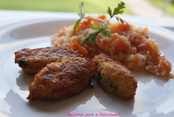 Cod and Zucchini Balls with Tomato Rice