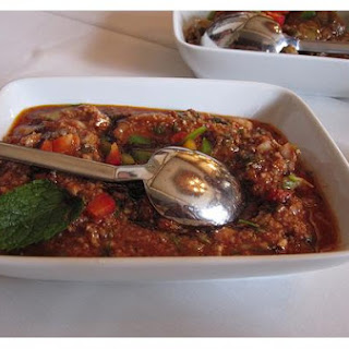 Turkish Bulgur Salad With Parsley and Mint.