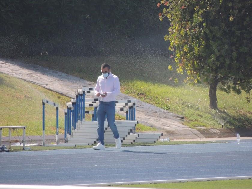 Mohamed El Assy en el entrenamiento