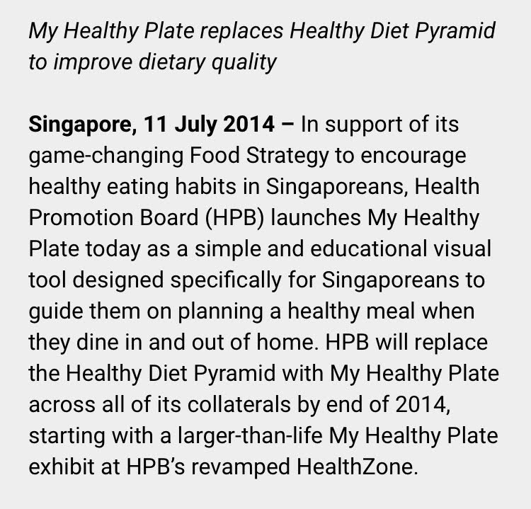 Healthy Plate replaced the food pyramid in 2014.