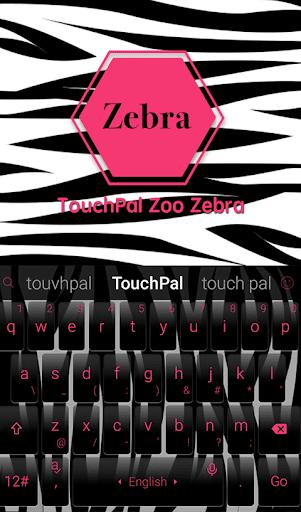 TouchPal Zoo Zebra Theme