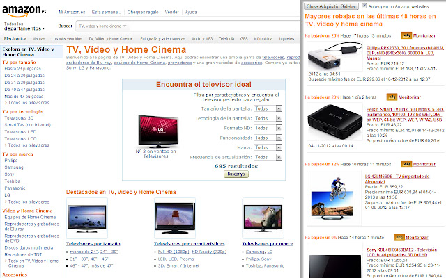 Adquisitio, the real-time Amazon deal finder