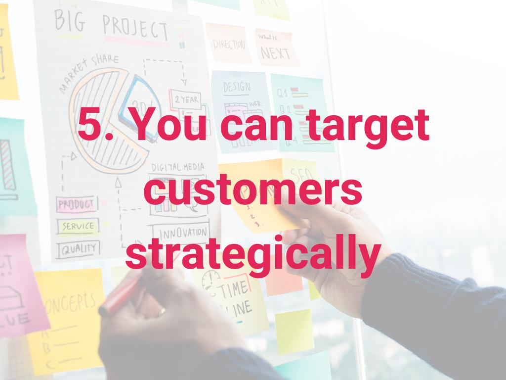 Je kunt klanten strategisch targeten