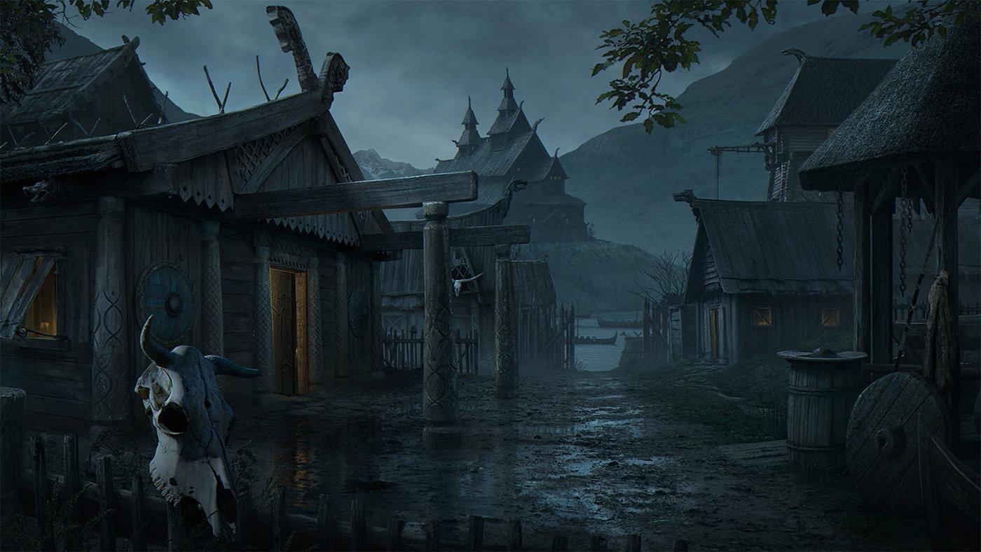 Znalezione obrazy dla zapytania viking village fantasy