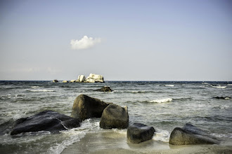 Photo: Dramatic granite formations around the island