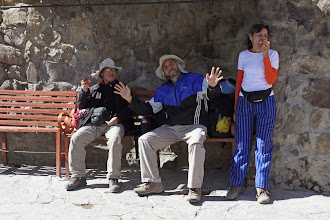 Photo: Reponiendose de las aguas termales Baños Termales de Chacapi Yanque, Caylloma - Arequipa