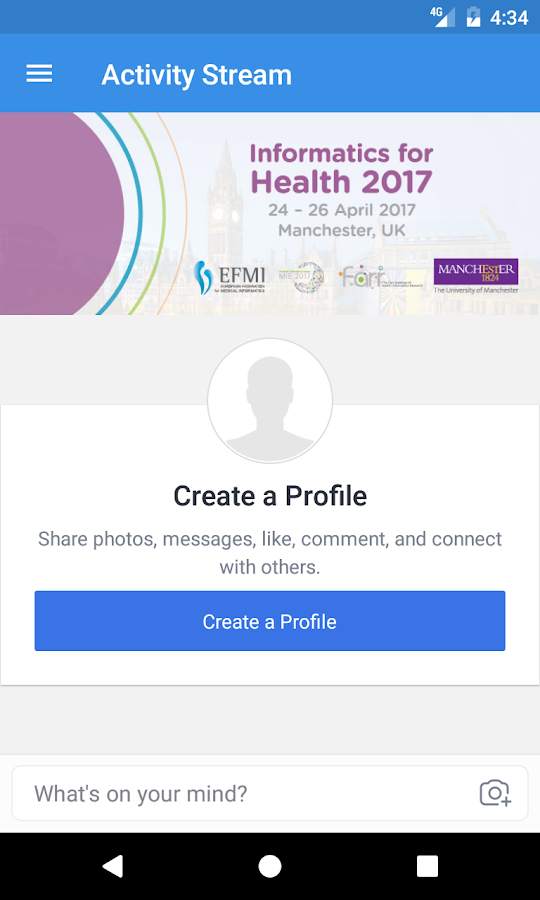 Informatics for Health 2017- screenshot