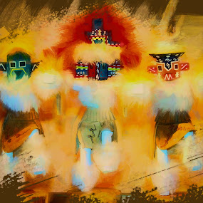 Hopi Dancers by Dave Walters - Digital Art People ( hopi, canon rebel, az, sedona, colors, digital art )