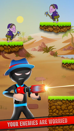 Télécharger Mr Spy Stickman Bullet Shooter Free Offline Games apk mod screenshots 1