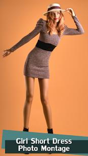 Girl Short Dress Photo Montage - náhled