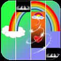 Beautiful Rainbow Piano Tiles