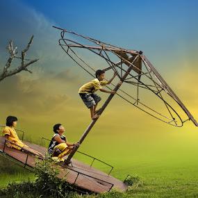 Playing by Ketut Manik - Babies & Children Children Candids ( kids playing in summer )