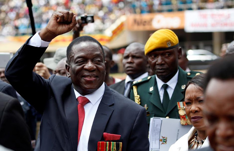 Emmerson Mnangagwa arrives ahead of his inauguration ceremony to swear in as president in Harare, Zimbabwe. Picture: REUTERS