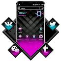 Black Neon Theme Launcher icon