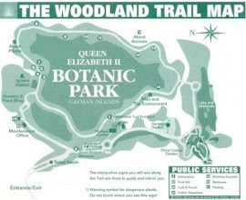 Photo: Queen Elizabeth II Botanic Park map - Woodland Trail Grand Cayman