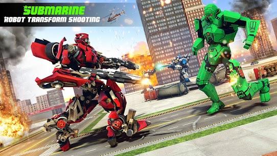 Submarine Robot Transform War: Robot Hero Games 2