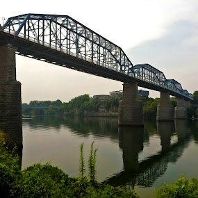 Walnut Street Walking Bridge by Jermaine Pollard - Instagram & Mobile iPhone ( chattanooga, waterscape, apple, outdoor, tennessee, bridge, iphone )