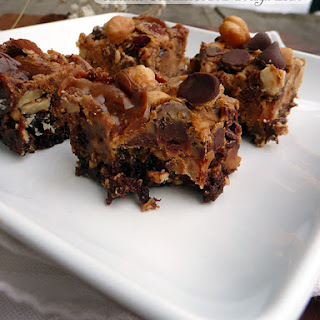 Chocolate Caramel Nut Orgasm Bars.