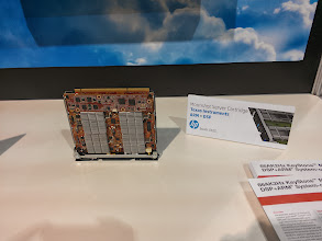 Photo: TI/HP Moonshot part.  Couple of Cortex A15 (?) ARM cores and TI DSPs on a card.