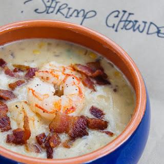 Sweet Corn and Shrimp Chowder Soup.