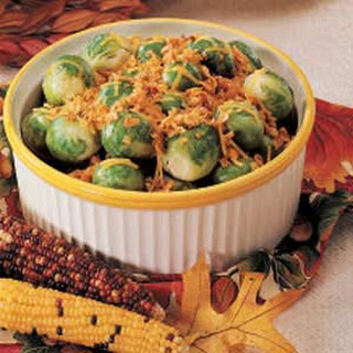 Microwave Brussels Sprouts.