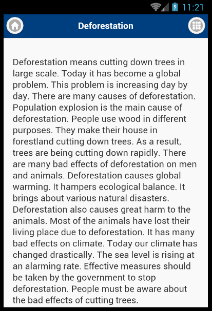 Deforestation and its impact on the environment