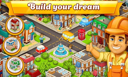 Cartoon City: farm to village. Build your home 4