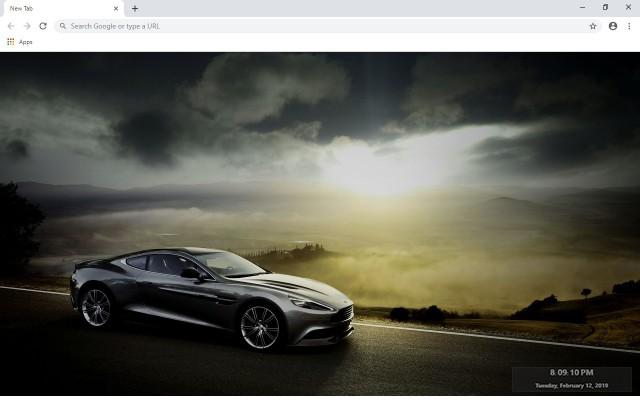 Aston Martin Vanquish New Tab