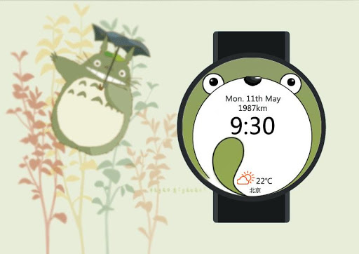 Totoro Watch Face for Wear