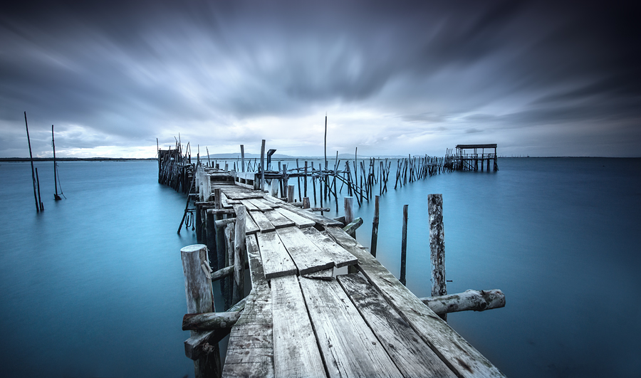 Existential Divide by José Ramos - Landscapes Waterscapes ( cais, nature, waterscape, carrasqueira, palafitico, long exposure, portugal, landscape, nd filter )