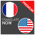 Translate French English paid icon