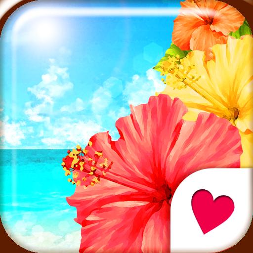 おしゃれなきせかえ壁紙★真夏のハイビスカスビーチ 個人化 App LOGO-APP試玩