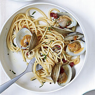 Spicy Tonnarelli with Clams