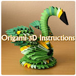 Origami 3D Instructions Icon