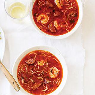 Chorizo and Shrimp with Toasted Pasta