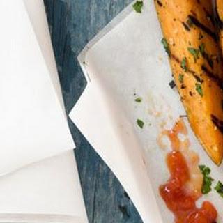Garlicky Sweet-Potato Fries Recipe