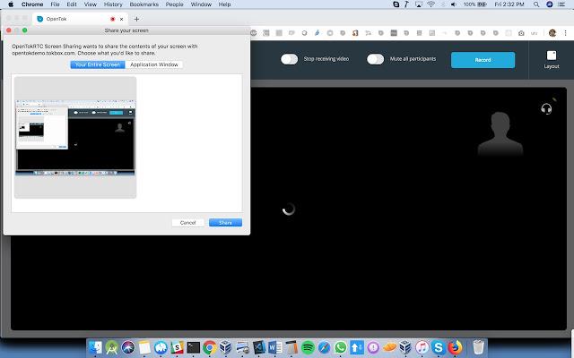 WebRTC.ventures Screen Sharing
