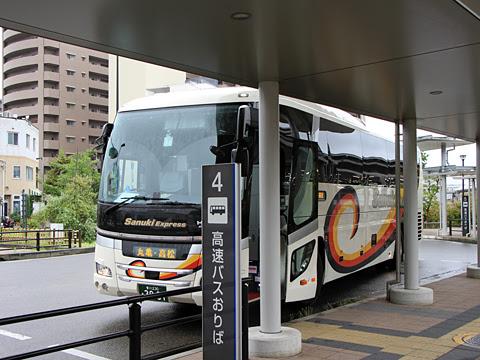 四国高速バス「さぬきエクスプレス福岡号」 3081 高松駅高速バスターミナル到着_02