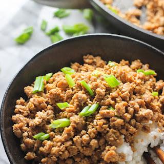 Ginger Minced Pork Rice Bowl.