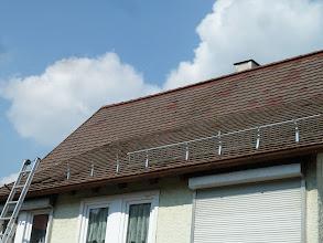 Photo: Heute sollte die Baustelle ruhn..... und dann ... ging es auf dem Dach weiter......