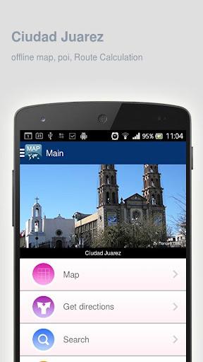 Ciudad Juarez Map offline