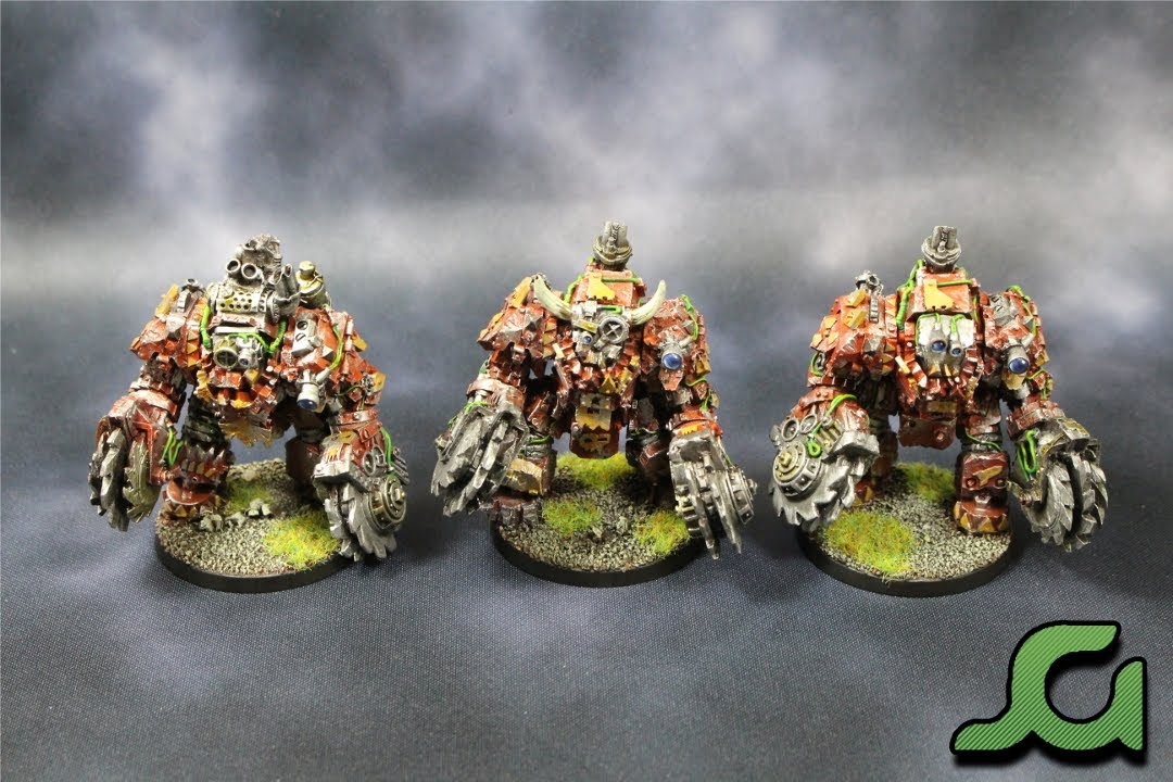 Mega Armoured Nobz Squad Green