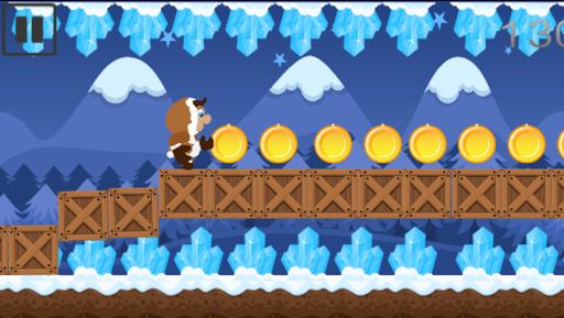 Tiny Snow Boy Dash Jump Blocks