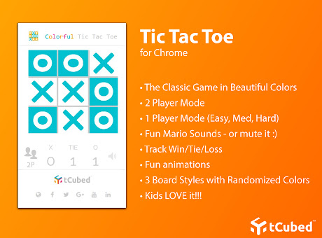 Colorful Tic-Tac-Toe