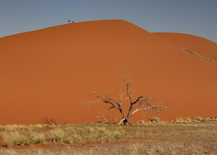 Photo: 1,000 foot sand dunes, Namibia