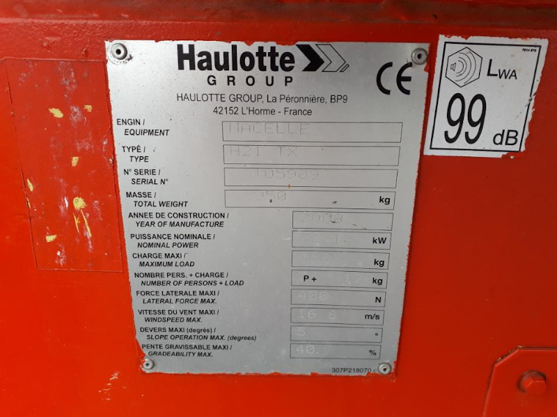 Picture of a HAULOTTE H21 TX