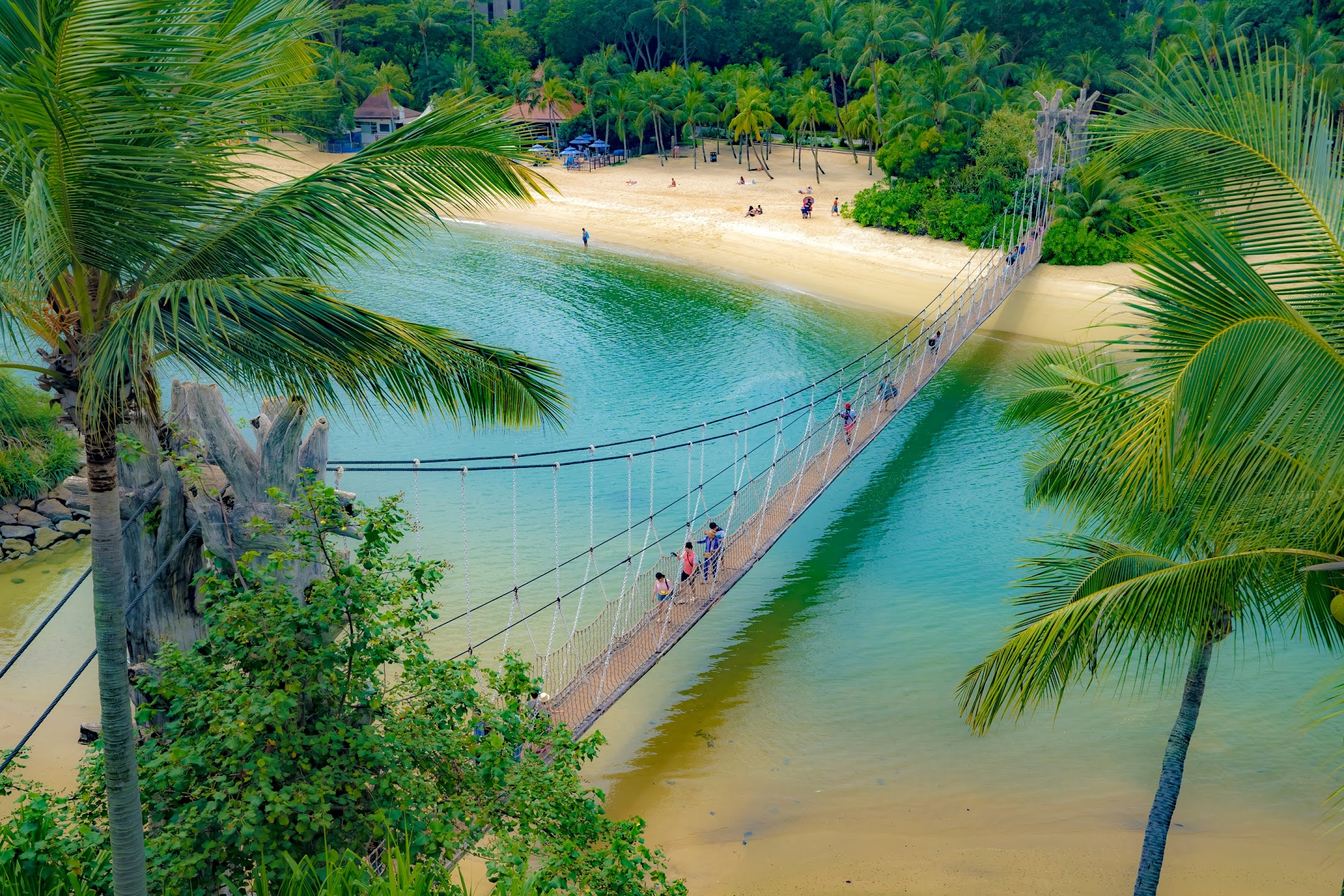 Singapore Sentosa Palawan Beach suspension bridge1