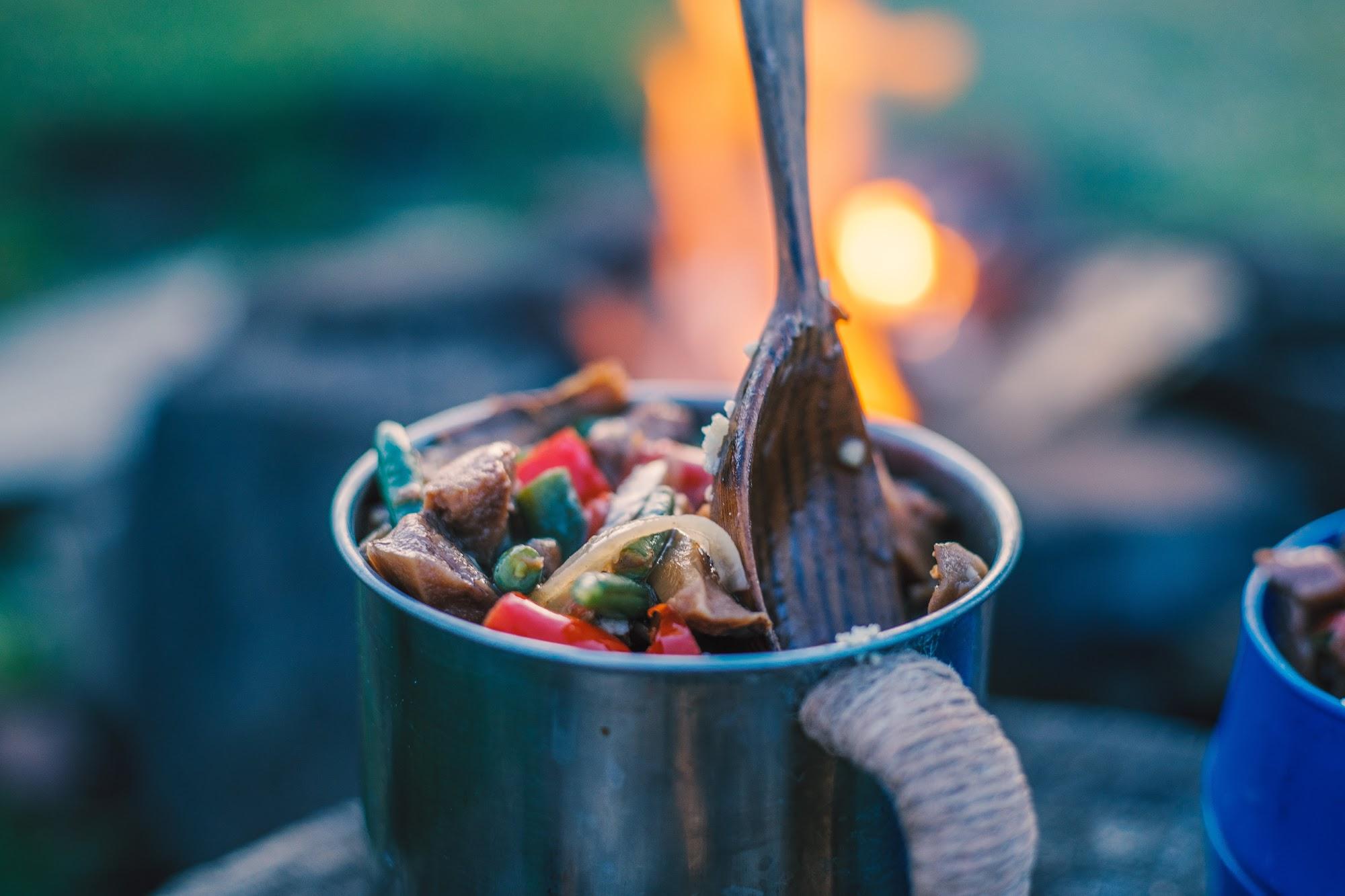 Кус кус з Овочами та грибами в горах