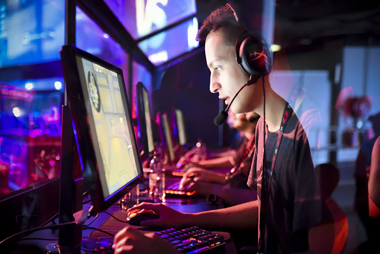 Dylan 'dyvo' Vorster of Aperture Gaming concentrates in the VS Gaming Masters CS:GO tournament at the Rage gaming expo in Johannesburg.