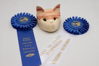 "Photo: ED KARCH 2"" x 2"" CAT MASK [BOX ELDER]"